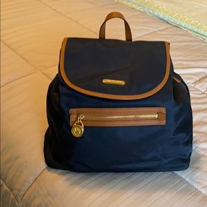 Michael Kors Navy Blue Backpack